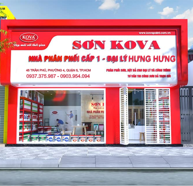 Đại lý sơn Kova chính hãng